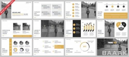 اینفوگرافیک خاص Business powerpoint presentation slides templates from infographic elements