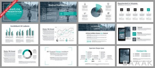 اینفوگرافیک زیبا و جذاب Business powerpoint presentation slides templates from infographic elements