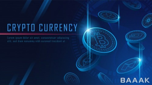 پس زمینه زیبا و خاص Ten famous cryptocurrency coins 3d flying background