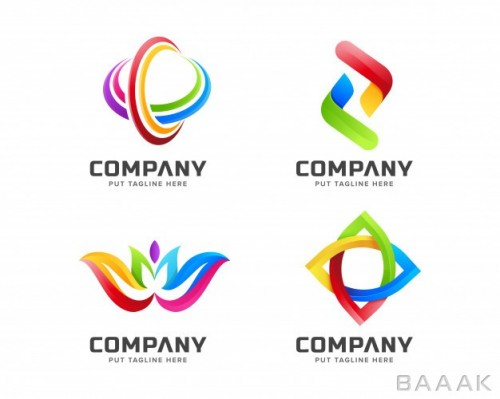 لوگو پرکاربرد Gradient business colorful rainbow logo template with abstract shape