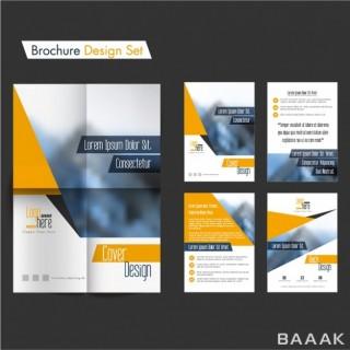 بروشور زیبا Brochure design set with orange details