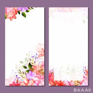بنر جذاب Floral website banners set
