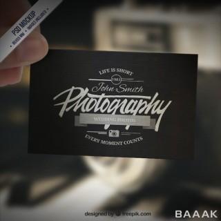 موکاپ کارت ویزیت استایل رترو