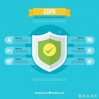 اینفوگرافیک جذاب New gdpr infographic with flat design