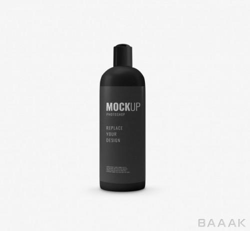 موکاپ بطری آرایشی بهداشتی مشکی رنگ کوچک