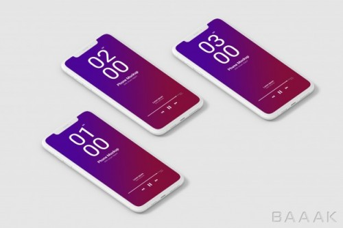 موکاپ موبایل با پس زمینه سفید