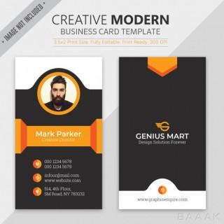 قالب خلاقانه و مدرن کارت های تجاری به همراه عکس چهره