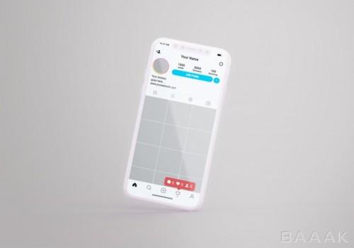 موکاپ صفحه ی پروفایل اینستاگرام موبایل