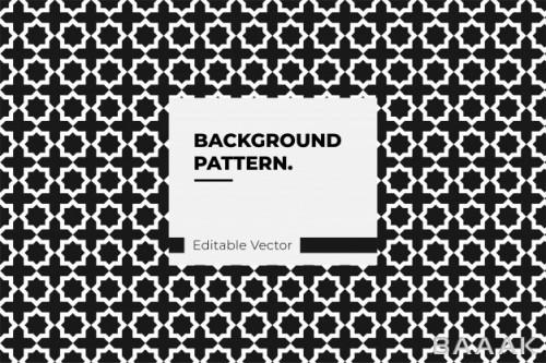 پترن جذاب سیاه و سفید با طرح اسلامی