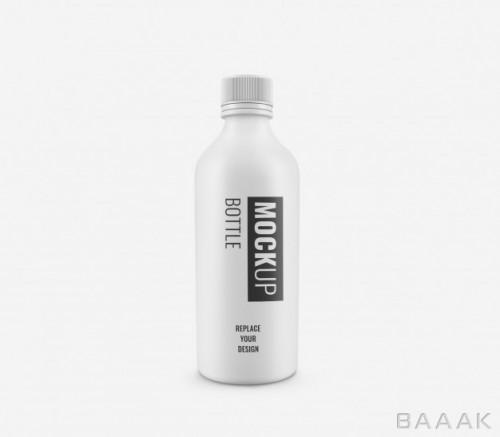 موکاپ بطری پلاستیکی سفید