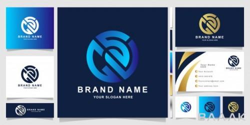 قالب کارت ویزیت مدرن و خلاقانه به همراه لوگوی جی اس وی