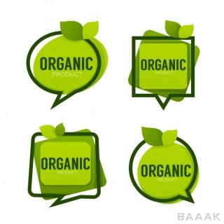ست نشان های زیبا با موضوع محصولات ارگانیک