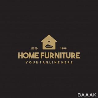لوگوی جذاب و حرفه ای با طرح مبلمان خانه