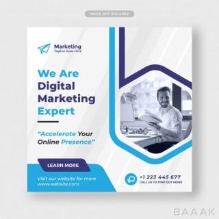 قالب پست شبکه های اجتماعی با موضوع بازاریابی دیجیتالی