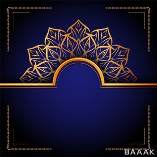 تصویر وکتوری اسلامی و طلایی