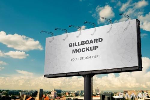 موکاپ بیلبورد تبلیغاتی در فضای بیرون