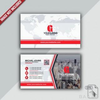 قالب کارت ویزیت مدرن و حرفه ای به همراه عکس ساختمان