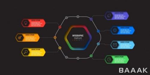 اینفوگرافیک مدرن و 7 مرحله ای زیبا