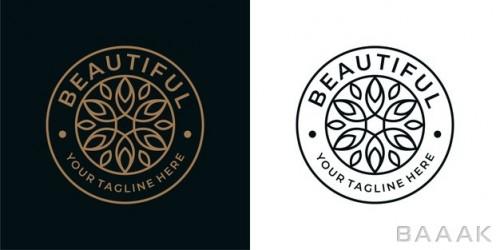 طراحی لوگو جذاب گل زیبا