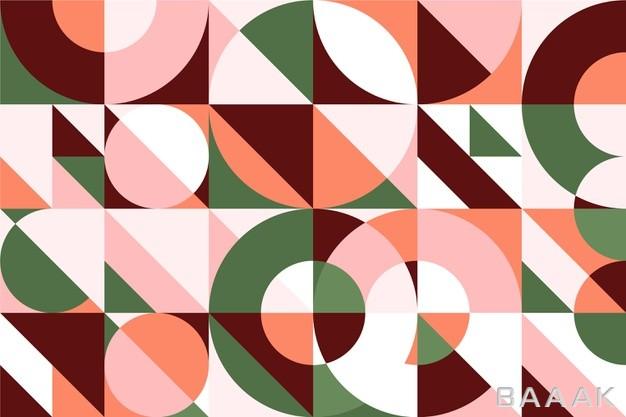 پس-زمینه-با-طرح-های-انتزاعی-و-دایره-ای-با-استایل-نقاشی-دیواری_563959352