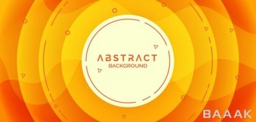 پس زمینه خلاقانه به همراه اشکال دایره ای نارنجی رنگ
