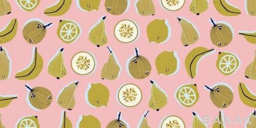 پترن وکتوری با طرح میوه ها