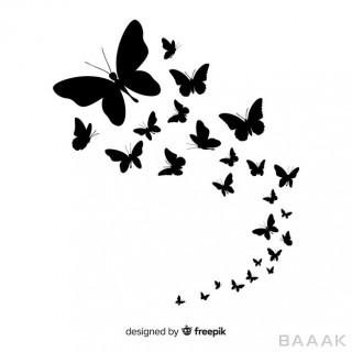 تصویر وکتوری پس زمینه از وکتور طرح پروانه