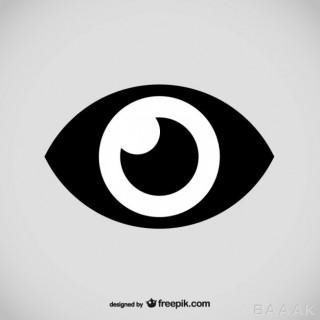 لوگوی وکتوری آماده با طرح چشم