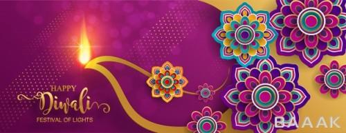 تصویر پس زمینه وکتوری برای تبریک دیوالی