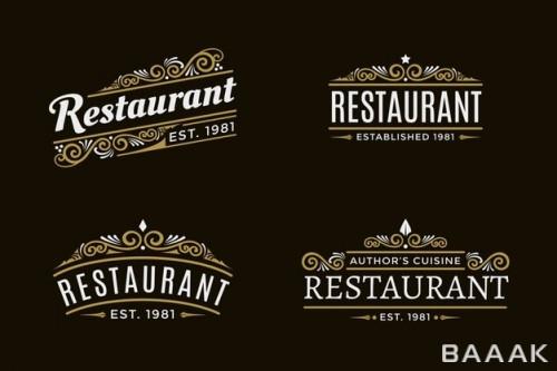 ست لوگوی آماده وکتوری برای رستوران ها