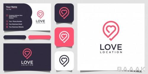 لوگوی وکتوری آماده رمانتیک همراه قالب کارت ویزیت