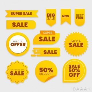 ست وکتوری از برچسب های فروش