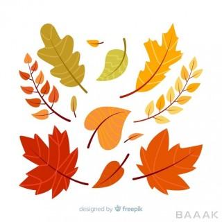 تصویر پس زمینه با تم برگ های پاییزی