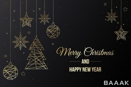 پس زمینه زیبای ایزومتریک با تم تبریک کریسمس
