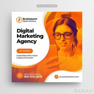 قالب بروشور و پست تبلیغاتی شبکه های اجتماعی برای آژانس های بازاریابی دیجیتالی