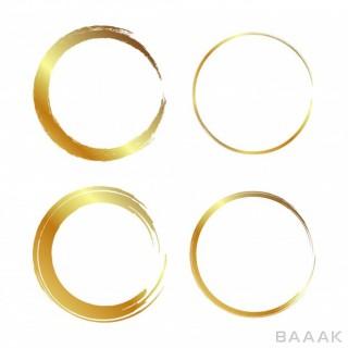 ست حلقه های زیبا با گرادینت طلایی