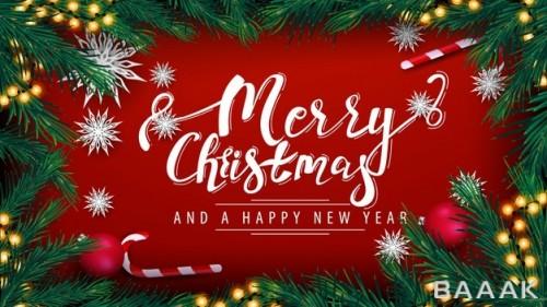 تصویر پس زمینه با تم تبریک کریسمس