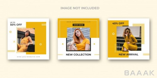 ست قالب پست های تبلیغاتی اینستاگرام و شبکه های اجتماعی دیگر برای فروش آنلاین پوشاک