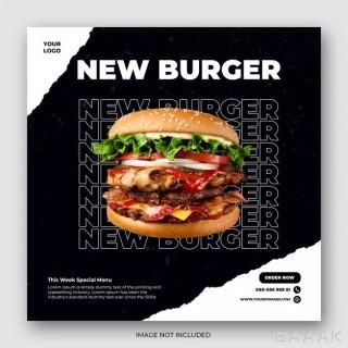 قالب بنر و پست اینستاگرام برای سفارش آنلاین غذا