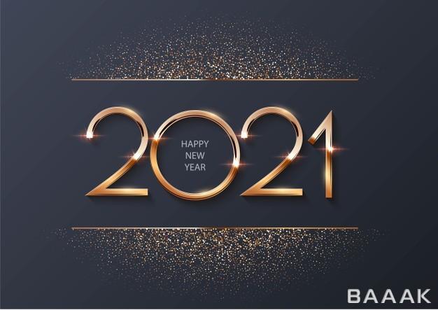 پس-زمینه-تبریک-سال-نو-۲۰۲۱-به-همراه-ذرات-طلایی-و-درخشان_126183775