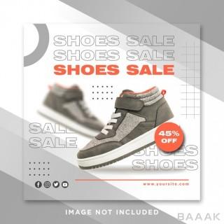 قالب اینستاگرام طرح حراج کفش و کتونی