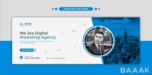 قالب کاور فیس بوک و بنر وب سایت برای آژانس های بازاریابی