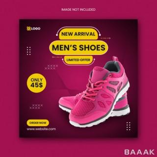 قالب پست تبلیغاتی اینستاگرام برای فروش آنلاین کفش و کتونی
