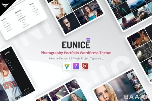 قالب حرفه ای وردپرس برای نمایش نمونه کارهای عکاسی و وبسایت های عکاسی با 6 دمو صفحه اصلی