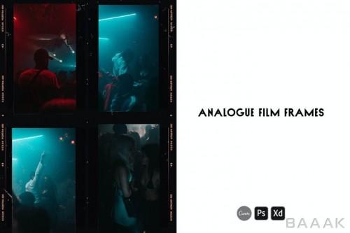مجموعه 10 تایی از قالب فریم فیلم های قدیمی آنالوگ (وینتیج) برای استوری اینستاگرام، طراحان گرافیک و عکاس ها