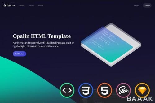 قالب وبسایت ریسپانسیو برای استارت آپ ها با سرعت بالا، کد نویسی شده با html و css و js  و sass و sketch