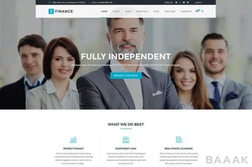 قالب آماده وبسایت حسابداری، مشاوره مالی و شرکت ها با کد های html , js , css