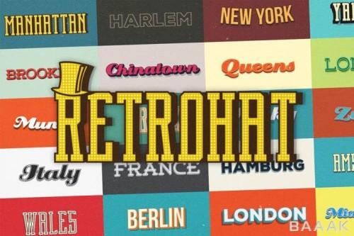 استایل گرافیکی ایلوستریتور برای ساخت افکت متن های متنوع رترو در فرمت های مختلف eps. و ai.