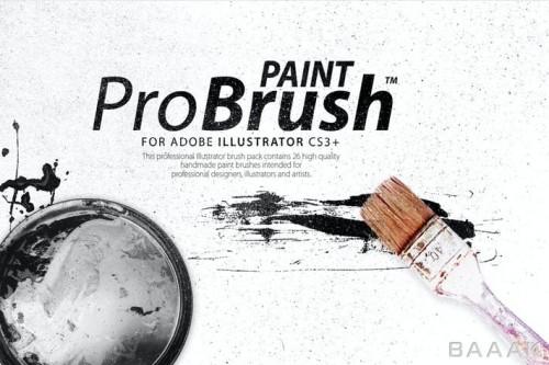 26 براش رنگ دست ساز با کیفیت بالا برای طراحان و دیزاینر ها برای نرم افزار ایلوستریتور به همراه 6 تکسچر وکتوری