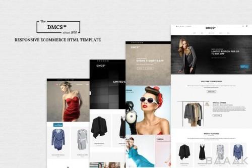 قالب آماده html و css وب سایت برای فروشگاه لباس با حالت ریسپانسیو و SEO بهینه